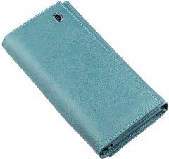 Женский кошелек кожаный ST Leather Accessories 18883 Голубой
