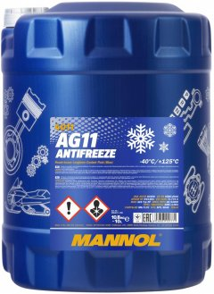Антифриз Mannol Antifreeze AG11 -40°C 10 л Blue (359/10)