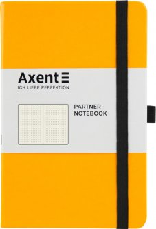 Записная книга Axent Partner 125х195 мм в точку 96 листов Желтая (8306-08-A)