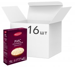 Упаковка риса пропаренного Жменька в пакетиках для варки 100 г х 64 шт (4820152180445)