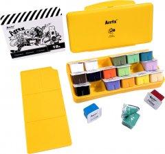 Гуашь Arrtx AJG-001-18B 18 цветов по 30 мл Желтая коробка (LC302338)