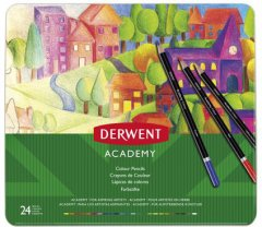 Набор цветных карандашей Derwent Academy Colour 24 цвета (2301938)