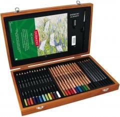 Подарочный набор в деревянной коробке Derwent Academy Wooden Gift Box (2300147)