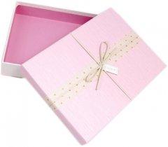 Подарочная коробка Ufo картонная 28х20х6 см Розовая (11111-002 28*20*6 PINK прям.)