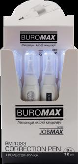 Набор корректоров ручек Buromax Jobmax 8 мл 12 шт (BM.1033)