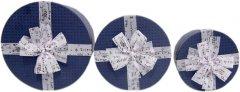 Набор подарочных коробок Ufo картонных 3 шт Синих (80303-003 Набор 3 шт DARK BLUE к)