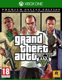 Игра Grand Theft Auto V. Premium Online Edition для Xbox One (Blu-ray диск, Russian version)