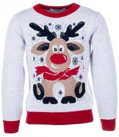 Джемпер Flash Різдво 19BG133-6-3900 146 см NY Білий (2200000248169)