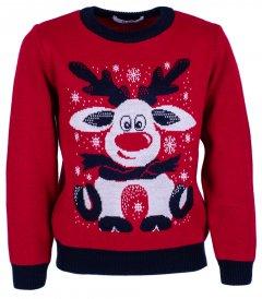 Джемпер Flash Різдво 19BG133-6-3900 146 см NY Червоний (2200000248268)