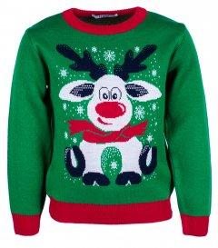 Джемпер Flash Різдво 19BG133-6-3900 104 см NY Зелений (2200000248299)