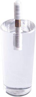 Ножка мебельная DC акриловая круглая D=50 мм Белая (DC110522)