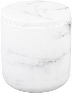 Ёмкость для аксессуаров BISK Bianko 07575 полирезин 11.8х9.6 см белая