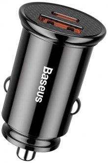 Автомобильное зарядное устройство Baseus Circular Plastic USB, Type-C PD3.0, QC4.0 Black (CCALL-YS01)