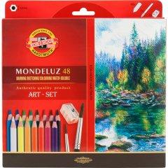 Акварельные карандаши Koh-i-Noor Mondeluz 48 цветов картонная упаковка (3713)