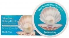 Гидрогелевые патчи для глаз FarmStay White Pearl Hydrogel Eye Patch Осветляющие с жемчугом 60 шт 90 г (8809460461169)