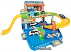 Игровой набор Гараж Bburago (1:43) 2 уровня, 1 машинка (18-30039)