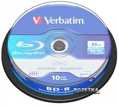 Verbatim BD-R SL 25 GB 6x Cake 10 шт (43742)
