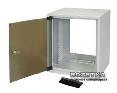 """Шкаф настенный серверный ZPAS 10"""" 26 см со стеклянной дверью 7U (WZ-3661-01-02-011)"""