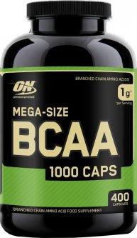 Аминокислота Optimum Nutrition Mega-Size BCAA 1000 400 капсул (748927020366)