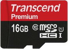 Transcend Premium microSDHC 16GB Class 10 UHS-I (TS16GUSDCU1)