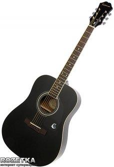 Гитара акустическая Epiphone DR-100 (A002318) Ebony CH HDWE