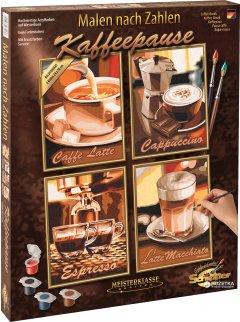 """Художественный творческий набор """"Кофе пауза"""" 4 картины Schipper (9340553)"""
