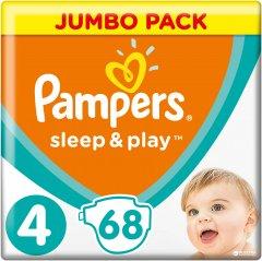 Подгузники Pampers Sleep & Play Размер 4 (Maxi) 9-14 кг 68 шт (4015400203551)