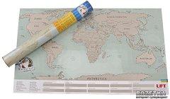 Скретч карта мира UFT Scratch World Map на английском Big 88 х 52 см (uftScratchworldmap)