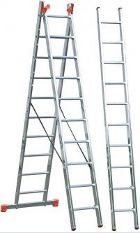 3-х секционная лестница Krause Tribilo 10 ступеней (129680)