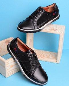 Чорні кеди на шнурівці 41