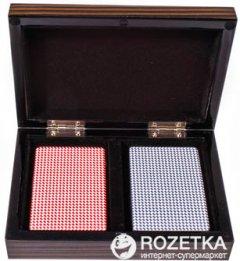 Две колоды карт в деревянной коробке Duke (B11L)