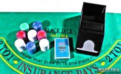 Набор для игры в покер с механизмом для раздачи карт (200 фишек) Duke (BJ2200)