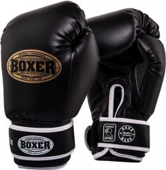 Перчатки боксерские BOXER Элит 12 унций Черные (2022-03BLK)