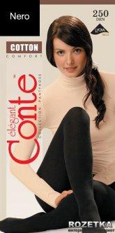 Колготки Conte из хлопка Cotton 250 Den 4 р Nero -4811473008976
