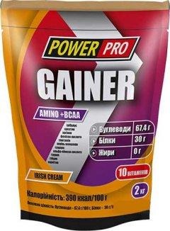 Гейнер Power Pro Gainer 2 кг Ирландский крем (4820214002555)