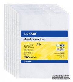 Файл-карман Economix А4 (A4+) 40 мкм глянцевый Прозрачный 100 шт (31107)