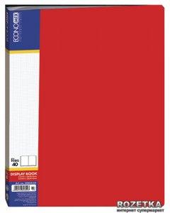 Папка пластиковая Economix А4 40 файлов Красная (Е30604-03)