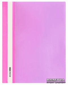 Набор папок-скоросшивателей Economix 10 шт А4 120/160 мкм с прозрачным верхом без перфорации Розовый (Е31511-09_1)