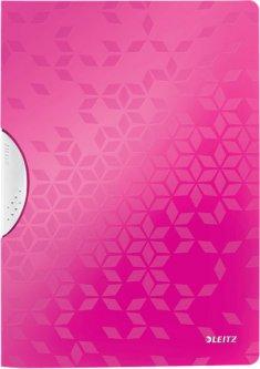 Папка с клипом Leitz WOW А4 Розовая (41850023)