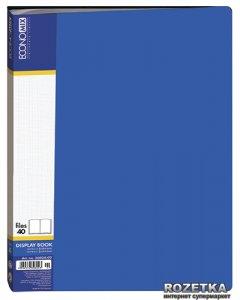 Папка пластиковая Economix А4 40 файлов Синяя (30604-02)