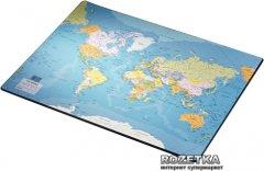 Подложка Esselte 400 x 530 мм с принтом карты мира (32184)