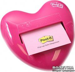Диспенсер Post-it Сердце Розовое + Z-стикеры 76х76 мм 100 листов (HD-330)