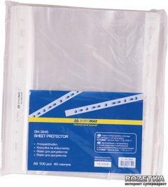 Файл-карман Buromax Job А5 40 мкм глянцевый Прозрачный 100 шт (BM.3845)