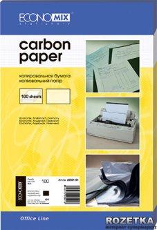 Бумага копировальная Economix А4 100 листов Черная (20501-01)