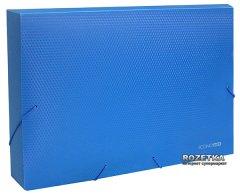 Папка-бокс пластиковая Economix А4 60 мм на резинке Синяя (31405-02)