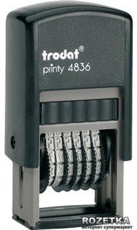 Мининумератор Trodat 4836 3.8 мм 6 символов Черный корпус (4836)