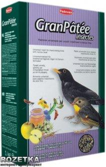 Повседневный корм для насекомоядных птиц Padovan Granpatee Insectes 1 кг (PP00193)
