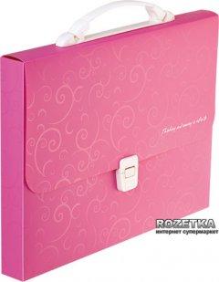 Портфель пластиковый Buromax Barocco A4/35 мм на 1 отделение Розовый (BM.3719-10)
