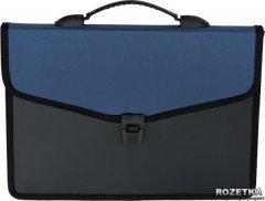 Портфель пластиковый Buromax Job на 3 отделения Синий (BM.3734-02)
