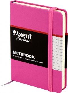 Записная книга Axent Partner 95х140 мм в клетку 96 листов Пурпурная (8301-05-A)